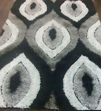 TOP QUALITY RUGS CARVED PUFFY 120X160CM APPROX 6X4FT BEST AROUND GREY/SILVER RUG