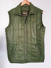 Barbour Mens Womens Gilet Bodywarmer Waistcoat Weatherproof Green Quilted Medium