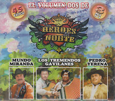 CD - Los Heroes Del Norte NEW El Volumen Dos De 45 Exitos 3 CD's FAST SHIPPING !