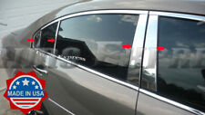 2007-2009 Saturn Aura Chrome 8Pc Pillar Post Trim Stainless Steel