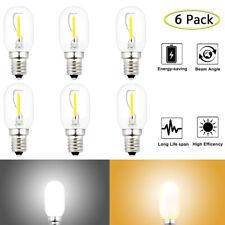 Night Light Bulbs C7 Clear 1 Watt LED AC 100-130V Candelabra Base E12 (6 bulbs)