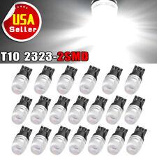 20x Pure White  T10 2323 LED Interior Light Bulbs W5W 158 168 192 194 906 2825