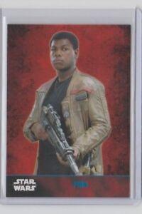 Star Wars The Force Awakens Series 1 Trading Card Blue Finn #2