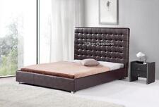 #4005 Gorgeous Modern Queen Size Dark brown PU Leather bed