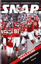 Arizona Cardinals vs Kansas City Chiefs Program 11/21/10