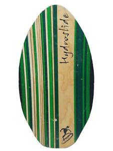 """Hydroslide 35.5"""" Large Skiboard Wakesufer Kneeboard Wood Green Boogie Board"""