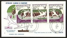 Mauritania, Scott cat. C164-C166. Montreal Olympics issue. First day cover.