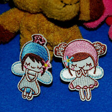 1pray Cute Angel Fairy Girl Kawaii Iron on Sew Embroidered Badge Patch Baby Diy