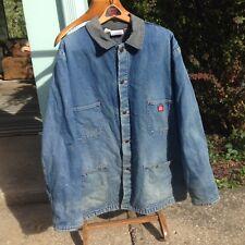 Vintage Dickies Denim Workwear Chore Barn Coat jacket Blanket lined Men's med