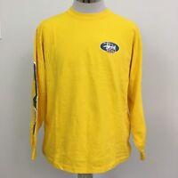 Vintage 90s Stussy Long Sleeve Tee Shirt T-Shirt Yellow Mens Size L Rare