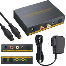 Optical SPDIF Toslink Digital to Analog Converter with Optical Switcher Splitter