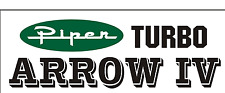 A222 PIPER TURBO ARROW IV Airplane banner hangar garage decor Aircraft signs