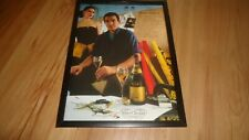 VEUVE CLICQUOT CHAMPAGNE FT BRUCE OLDFIELD-1987 framed original advert