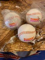 Dunkin' Donuts Park Baseball Lot (2 New, 1 Used). VERY RARE!!!