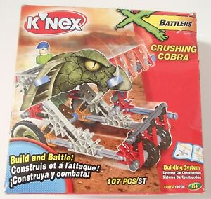 Knex X Battlers Crushing Cobra Building System Construction Kit 10412 / 19706