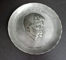 """WENDELL AUGUST FORGE PEWTER JOHN KENNEDY PLATE 9""""  #412"""