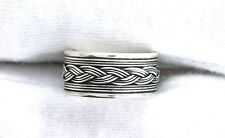 .925 Pure Solid Sterling Silver Knot Weave Band Ring Size SIZE 6.75 PSR261