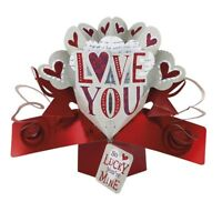 Love You Pop-Up Valentines Greeting Card Valentine's Day Pop Up Cards