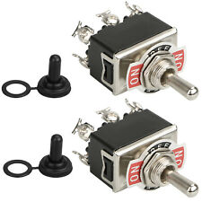 2pcs Waterproof 6pin Heavy Duty Boot Cap Dpdt Momentary Toggle Switch Onoff Amp