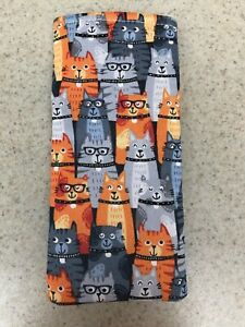 Sunglass / Eyeglass Soft Fabric Case - Cute Kittens - Some with Glasses - NEW