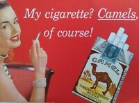 1960s 1970s CAMEL Cigarettes Ad - Ink Blotter Sheet - New, Old Stock, Unused