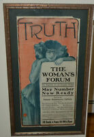 PAL Original 1902 Truth Woman's Forum Lithograph Jean de Paleologue Poster