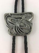 """Jarco Cast Vintage Bolo Tie Bird Motif Black Cord 1 1/2"""" x 1 3/4'"""