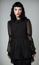 Disturbia Dolls Kill Gothic Pinup Sceptic Gossimer Dress Sz XS UK 6