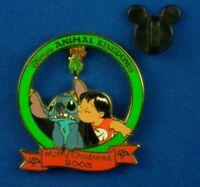 Disney Pin Christmas Mistletoe Kisses Stitch and Angel LE 2000 New Mint