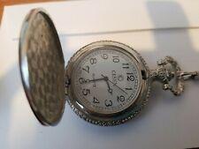 Stainless Steel Case Arabic Pocket Watch Vintage Pocket Watch Quartz White Dial