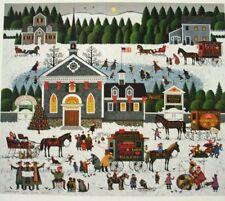 """Charles Wysocki """" Churchyard Christmas""""  #12/1250 w/ CERT"""