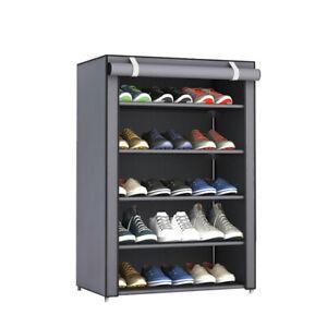 3/4/5/6 Tier Dustproof Shoe Stand Storage Organiser Rack Space Save Self Tidy
