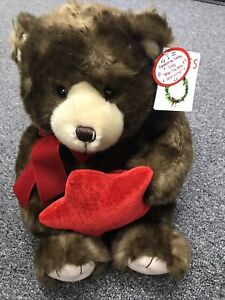 Vintage Zales Holiday Gund Bear For Make A Wish Foundation So Adorable 19""