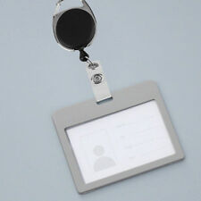 KQ_  Retractable Reel Recoil ID Badge Lanyard Name Tag Key Card Holder Belt Clip
