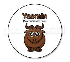 REGALO personalizzato Safari Animali WILDEBEEST GNU YAK BULL sottobicchieri rotondi presenti # 2