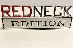 REDNECK EDITION emblem INTERNATIONAL BEAUTIFUL HARVESTER car TRUCK logo DECAL