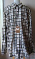 GH BASS EARTH WOODLAND FLANNEL MULTI COLOR SHIRT SZ LARGE NEW