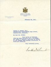 Franklin D. Roosevelt  signed Letter TLS as Governor 1931 - EX Con. Rare!