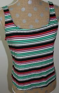 RUE 21 Colorful Striped Tank Top Stretch Sleeveless SIZE XL NWT