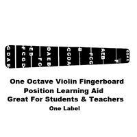 1 Violin Fiddle Fingerboard Fret Marker Label Fingering Chart 4/4