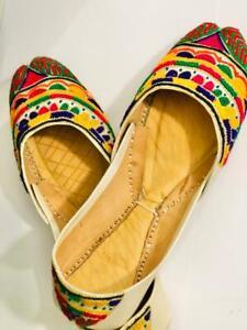 Ladies KHUSSA Shoes Party Wedding Wear Goldish Silver Multi-Colour Size UK 5.5
