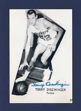 Terry Dischinger signed Chicago Zephyrs basketball photo