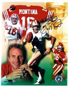 Joe Montana San Francisco 49ers  8X10 Football Photo Signed Autographed Auto