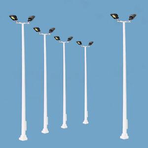 lahomia 40Pcs Model Railway Train Model LED Lampposts HO Gauge Street Light Layouts