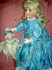 "Gorgeous 22"", Antique French, SFBJ Paris 60 (4) doll, orig. wood & compo. body"
