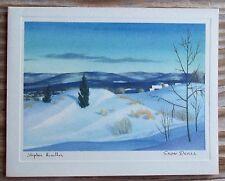 Vintage Stephen Hamilton Christmas Card Snow Dunes White Wyckoff  Never Used