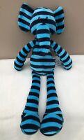 NEW Jellycat Zooper Dooper Elephant Soft Toy Blue Stripe Baby Comforter BNWT