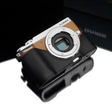 GARIZ Leather Half Case Panasonic Lumix GX85 GX80 GX7ii Black XS-CHGX85BK