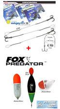 Fox u. Rox Raubfisch Posen Set : No.SFR-34 + 3 Stück MEGAFLEX Stahlvorfächer