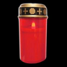 LED Grablicht Rot Flackerlicht Grabkerze Grabschmuck Kerze inkl. 2 Batterien